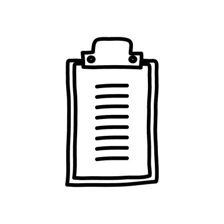 clipboard icon over white background, line style, vector illustration