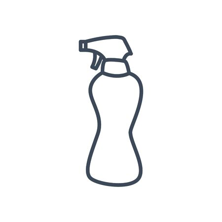 Spray bottle line style icon design, Hygiene wash health clean healthy bacteria bathroom protection and liquid theme Vector illustration Ilustracja
