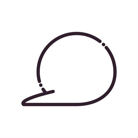 Communication bubble line style icon design, Message discussion conversation and chatting theme Vector illustration Иллюстрация