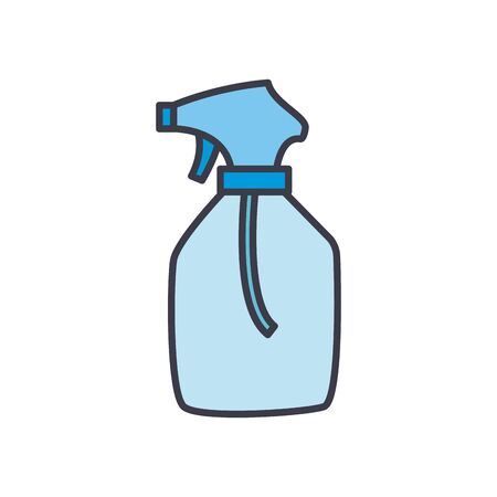 Alcohol spray bottle flat style icon design, Hygiene wash health clean healthy bacteria bathroom protection and liquid theme Vector illustration Ilustracja