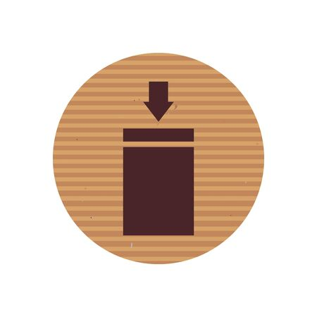 stacking limitation line style icon design, Cardboard delivery logistics transportation and shipping theme Vector illustration Ilustração
