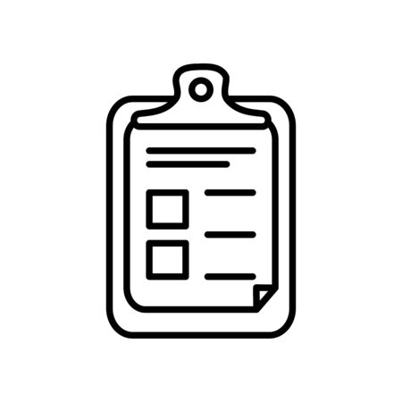 medical report icon over white background, line style, vector illustration