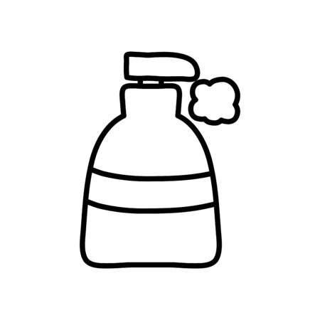 soap bottle icon over white background, line style, vector illustration