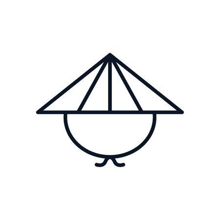japanese traditional hat farm icon vector illustration design 版權商用圖片 - 147888565