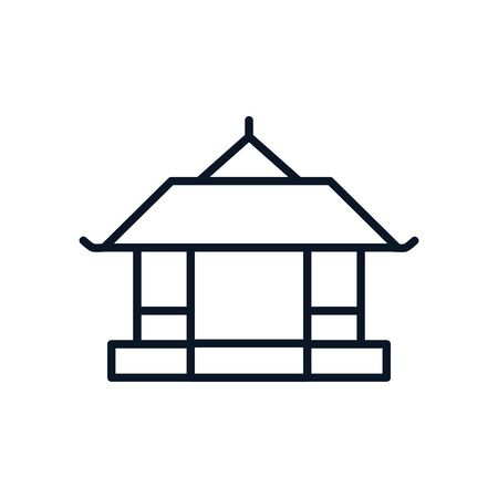 japanese traditional building isolated icon vector illustration design
