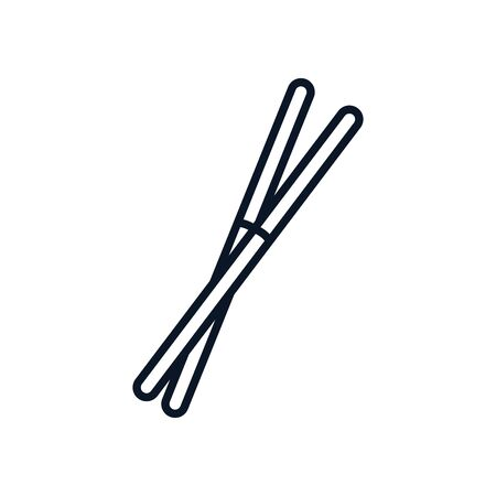 japanese chopstick utensil isolated icon vector illustration design