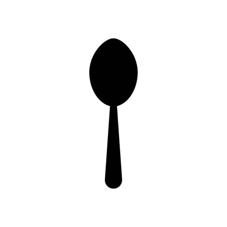 kitchen spoon icon over white background, silhouette style, vector illustration
