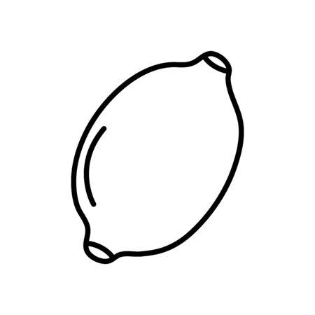 lemond fruit icon over white background, line style, vector illustration
