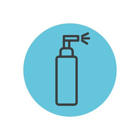 spray can icon over white background, block line style, vector illustration