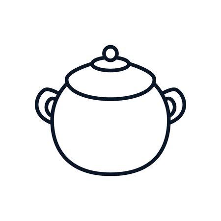 japanese pot utensil isolated icon vector illustration design  イラスト・ベクター素材