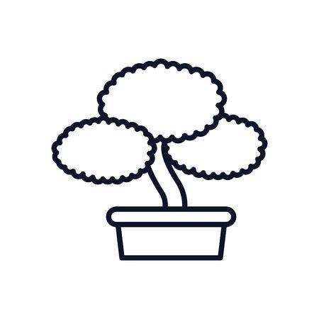 japanese bonsai tree isolated icon vector illustration design Stock Illustratie