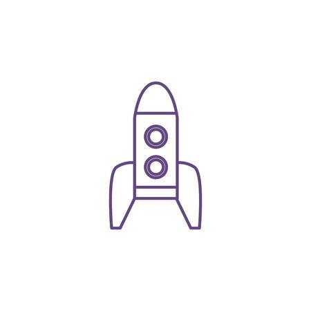 rocket launcher space isolated icon vector illustration design Ilustração