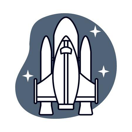 space ship vehicle flying isolated icon vector illustration design Ilustração