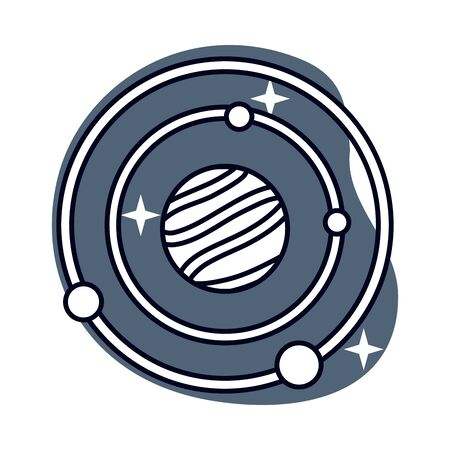space planets system solar isolated icon vector illustration design Vettoriali