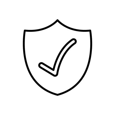 security shield with check mark icon over white background, line style, vector illustration 版權商用圖片 - 147921598