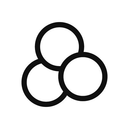 Three circles fill style icon design, Social media web multimedia and communication theme Vector illustration Illustration