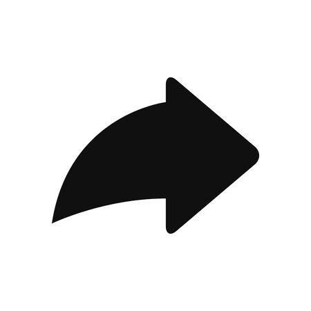 Next arrow fill style icon design, Music movie cinema video film and media theme Vector illustration