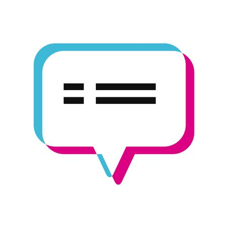 Communication bubble lighten style icon design, Message discussion conversation and chatting theme Vector illustration