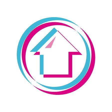 Upload arrow lighten style icon design, Social media web multimedia and communication theme Vector illustration Illustration