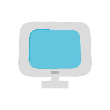 computer icon over white background, flat style, vector illustration