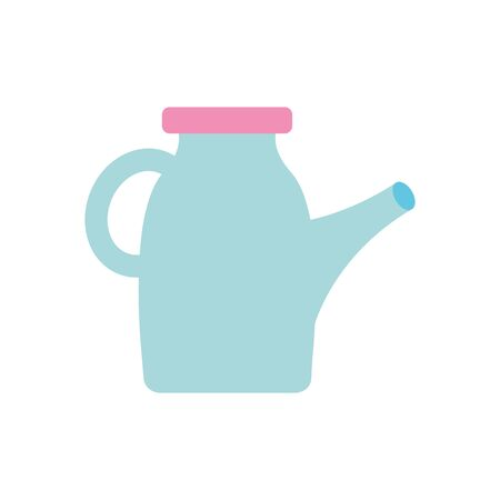 drink jug icon over white background, flat style, vector illustration