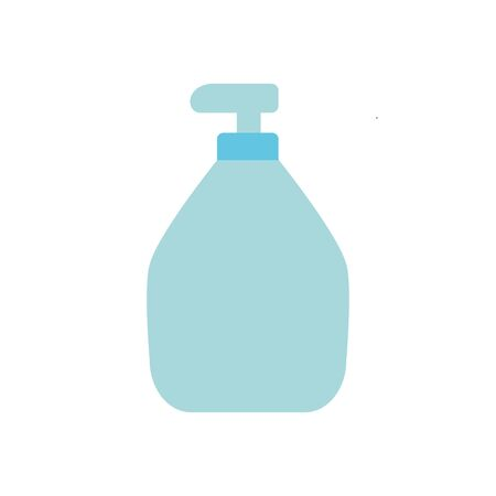 Stay home concept, hands soap bottle icon over white background, flat style, vector illustration Ilustrace