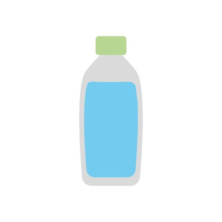 water bottle icon over white background, flat style, vector illustration