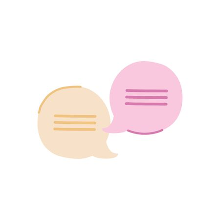 speech bubbles icon over white background, flat style, vector illustration