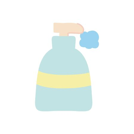 soap bottle icon over white background, flat style, vector illustration