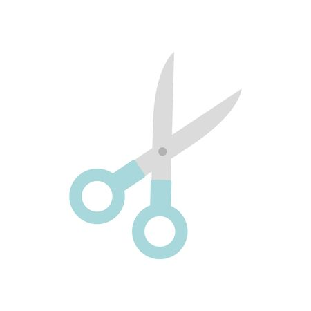 scissors tool icon over white background, flat style, vector illustration Ilustrace