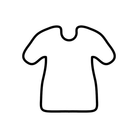 tshirt icon over white background, line style, vector illustration