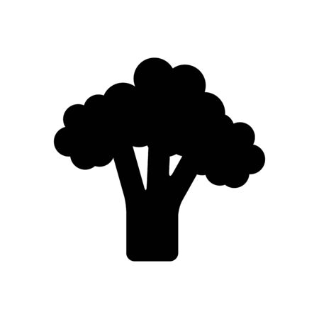 broccoli vegetable icon over white background, silhouette style, vector illustration Ilustrace