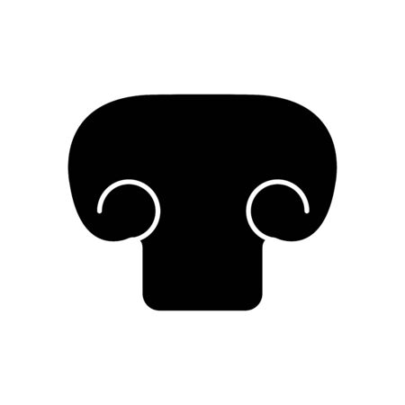 mushroom icon over white background, silhouette style, vector illustration