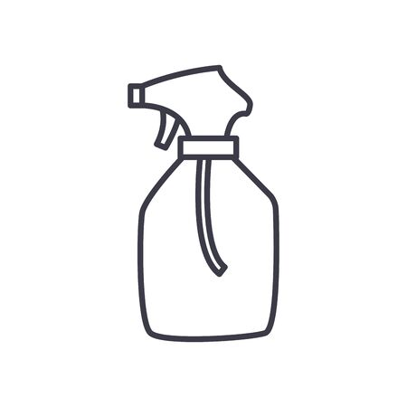 Alcohol spray bottle line style icon design, Hygiene wash health clean healthy bacteria bathroom protection and liquid theme Vector illustration