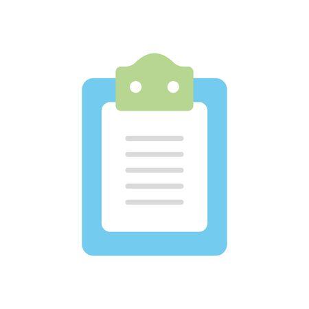 medical report icon over white background, flat style, vector illustration Çizim