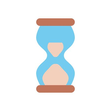 hourglass icon over white background, flat style, vector illustration