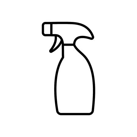 cleaning spray bottle icon over white background, line style, vector illustration