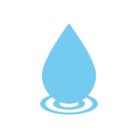 water drop icon over white background, flat style, vector illustration 일러스트