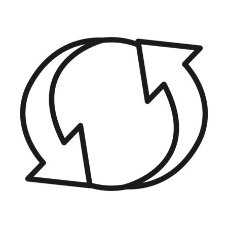 replay arrows icon over white background, line sytle, vector illustration 일러스트