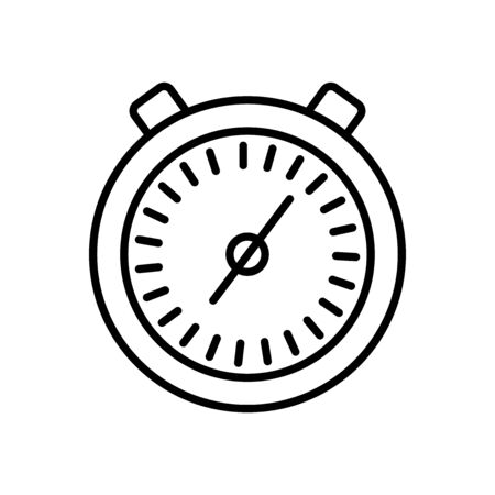 stopwatch icon over white background, line style, vector illustration