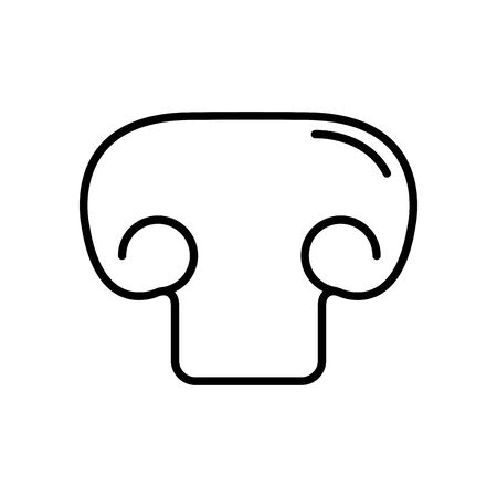 mushroom icon over white background, line style, vector illustration