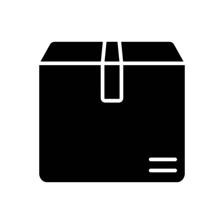 package box icon over white background, silhouette style, vector illustration