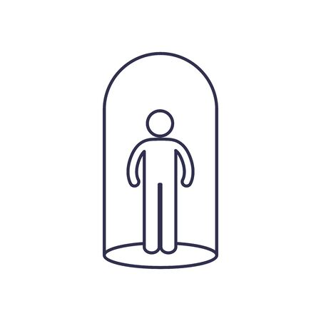 Avatar line style icon design of Person profile social communication human user partnership member and figure theme Vector illustration Banque d'images - 149594440