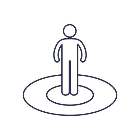 Avatar line style icon design of Person profile social communication human user partnership member and figure theme Vector illustration Banque d'images - 149594522