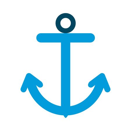Anchor flat style icon design Sea nautical ocean navigation travel underwater water and marine theme Vector illustration 向量圖像