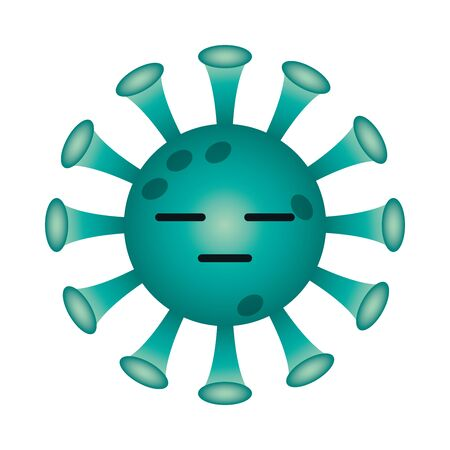 expressionless covid 19 virus emoji gradient style icon design of 2019 ncov cov coronavirus infection and corona theme Vector illustration