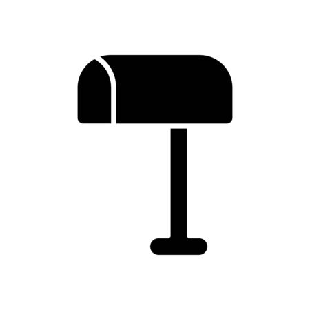 web icons concept, mailbox icon over white background, silhouette style, vector illustration