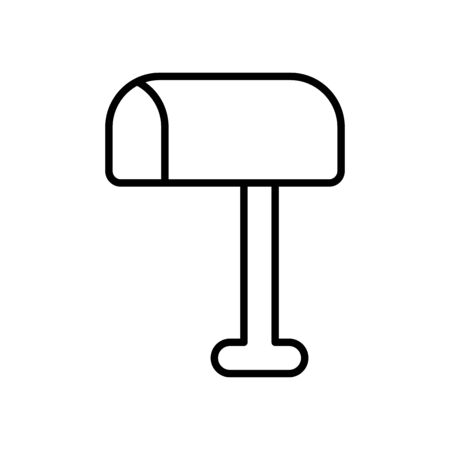 web icons concept, mailbox icon over white background, line style, vector illustration Ilustração