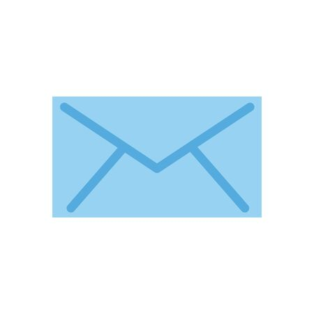 Envelope flat style icon design, Message email mail and letter theme Vector illustration