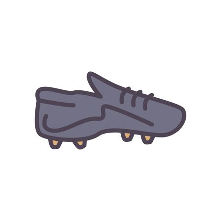 shoe line and fill style icon design, Soccer football sport hobby competition and game theme Vector illustration
